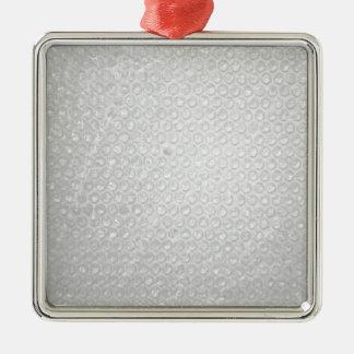 Litet bubbla sjalstruktur julgransprydnad metall
