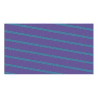 Litet diagonala randar i lilor och blått set av standard visitkort