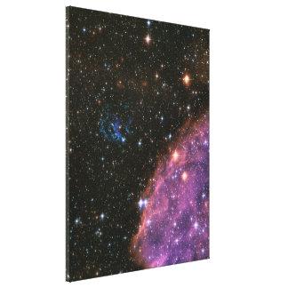 Litet Magellanic för fyrverkerier moln Canvastryck