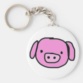 Little piggy keychain rund nyckelring
