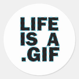 Liv är A. Gif Runt Klistermärke
