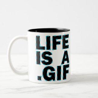 Liv är A. Gif Två-Tonad Mugg