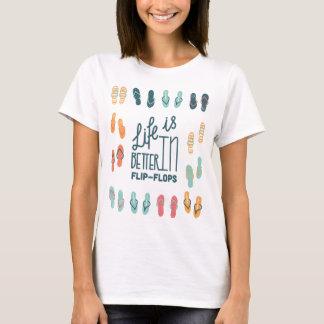 Liv är bättre i flinflip flopsroligtskjorta t-shirt