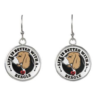 Liv är bättre med en Beagle Örhängen