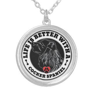 Liv är bättre med en cockerspanielSpaniel Silverpläterat Halsband