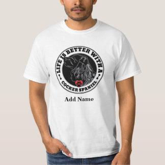 Liv är bättre med en cockerspanielSpanielpersonlig T Shirt