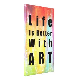 Liv är bättre med stor konst canvastryck