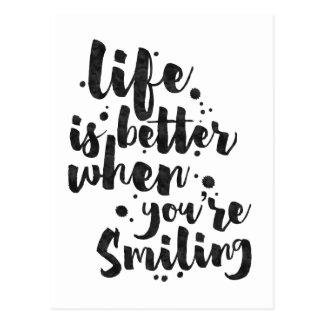 Liv är bättre, när det ler - det inspirera kortet vykort