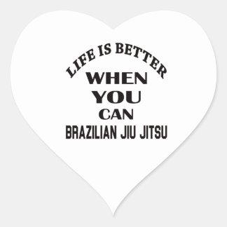 Liv är bättre, när du kan brasilianska Jiu Jitsu Hjärtformat Klistermärke