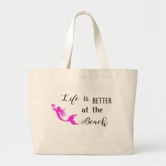 Liv är bättre på strandtotot jumbo tygkasse