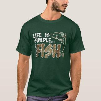 Liv är den enkla fiskT-tröja Tee Shirts