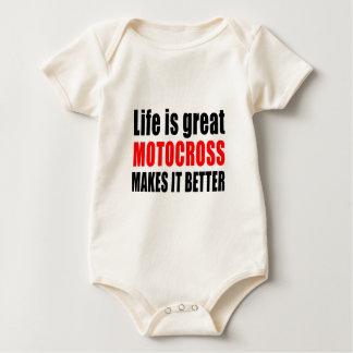 LIV ÄR DEN UNDERBARA MOTOCROSSEN GÖR DEN BODY FÖR BABY