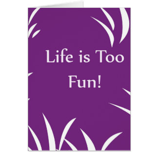 Liv är det tomma hälsningkortet för för roliga hälsningskort