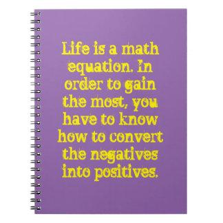 Liv är en mathlikställande anteckningsbok