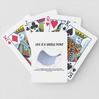 Liv är en sadel pekar (Math och geometri) Spelkort