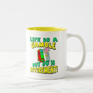 Liv är en vågspel (2) Två-Tonad mugg