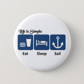 Liv är enkelt, seglar standard knapp rund 5.7 cm