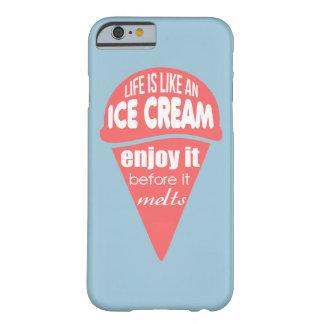 Liv är likt ett glassslogancitationstecken barely there iPhone 6 skal