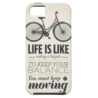 Liv är likt rida ett cykelcitationsteckenIphone 5  iPhone 5 Fodral