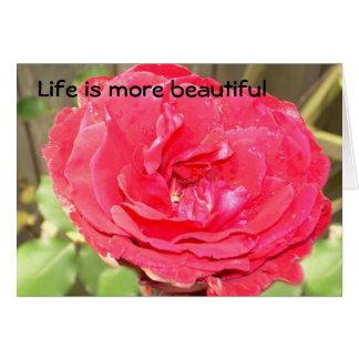 Liv är mer härlig hälsningskort
