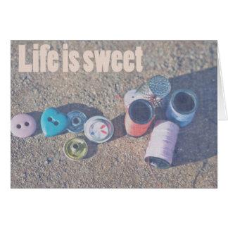 Liv är sött hälsningskort