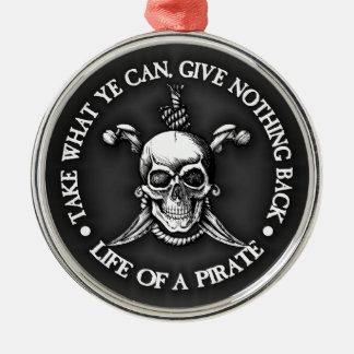 Liv av en pirat - ta vilken Ye kan Julgransprydnad Metall