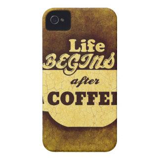 Liv börjar efter kaffe iPhone 4 case