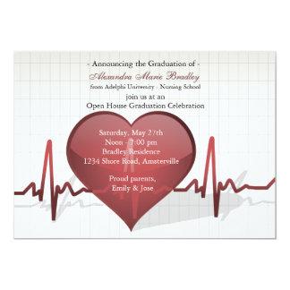 Liv fodrar medicinsk studenteninbjudan 12,7 x 17,8 cm inbjudningskort