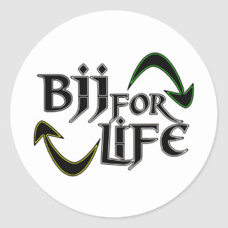 Liv för BJJ 4 Runt Klistermärke