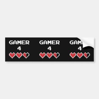 Liv för Gamer 4 Bildekal