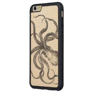 Liv för hav för kallt vintagebläckfiskhav vatten- carved lönn iPhone 6 plus bumper skal