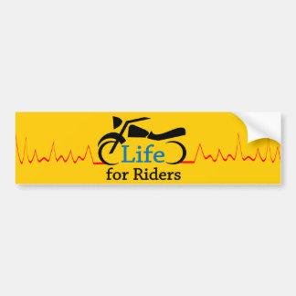 Liv för ryttare - klocka för motorcyklar bildekal