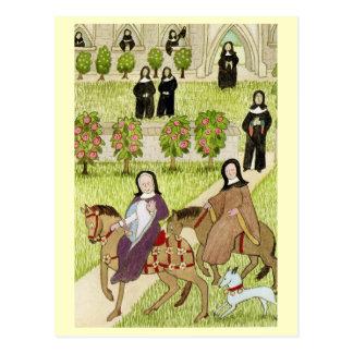 Liv i glada England, nunnor Vykort