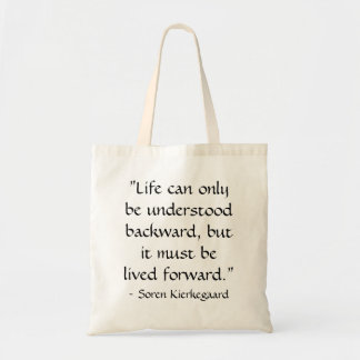 Liv kan endast förstås tillbaka… tygkasse