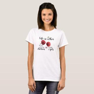 LIV--Körsbär eller gropar Tee Shirt
