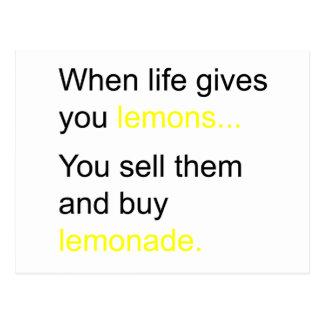 liv och dess citroner vykort