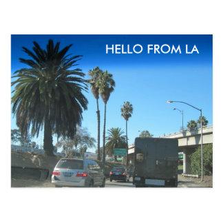Liv på den Los Angeles motorvägen Vykort