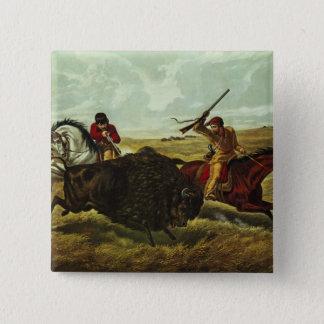 Liv på prärien - buffeljakten, 1862 standard kanpp fyrkantig 5.1 cm