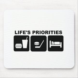 Liv prioriteter, hockey musmatta