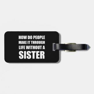 Liv utan systern bagagebricka