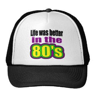Liv var bättre i 80-tal baseball hat