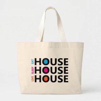 LIVE SLEEP EAT HOUSE BAG JUMBO TYGKASSE