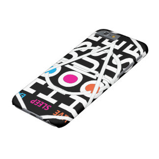 LIVE SLEEP EAT HOUSE BARELY THERE iPhone 6 FODRAL