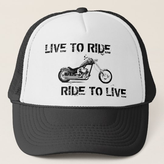 Live to ride, Ride to live Truckerkeps