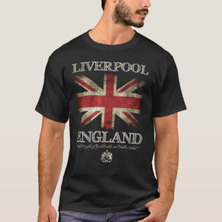 Liverpool England UK flagga T Shirts