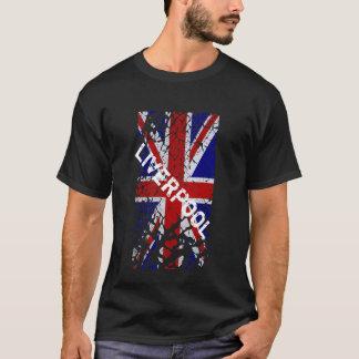 Liverpool vintageskalning målar facklig jackflagga t shirts