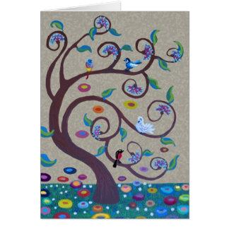 Livets träd - art nouveaustil hälsningskort