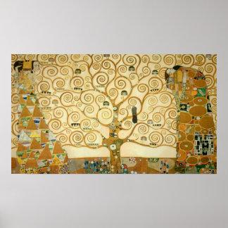 Livets träd av Gustav Klimt Poster