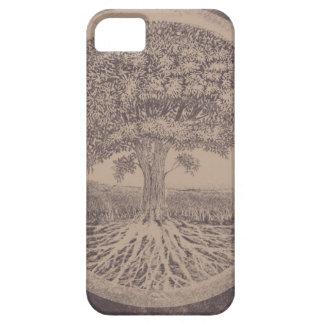 Livets träd i brunt iPhone 5 Case-Mate skydd
