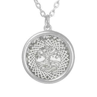 Livets träd i Celtic design Silverpläterat Halsband